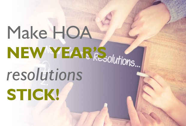 Make HOA New Year's Resolutions Stick